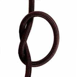 Антенный кабель одножильный круглый Villaris 1110102, матерчатый провод, цвет - коричневый