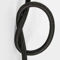 Антенный кабель одножильный круглый Villaris 1110104, матерчатый провод, цвет - черный