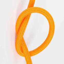 Антенный кабель одножильный круглый Villaris 1110105, матерчатый провод, цвет - оранжевый