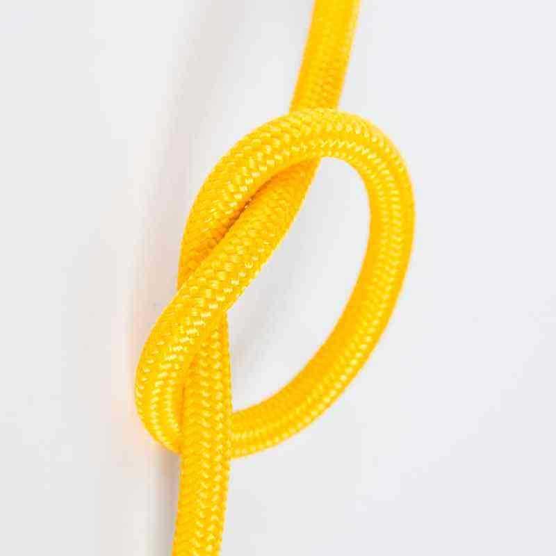 Антенный кабель одножильный круглый Villaris 1110106, матерчатый провод, цвет - желтый