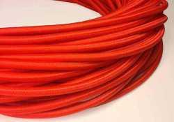 Антенный кабель одножильный круглый Villaris 1110108, матерчатый провод, цвет - красный