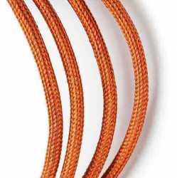 Антенный ретро кабель одножильный круглый Villaris 1110111, матерчатый провод, цвет - бронза