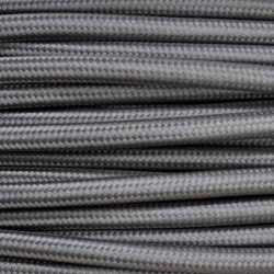 Антенный ретрокабель одножильный круглый Villaris 1110112, матерчатый провод, цвет - серый
