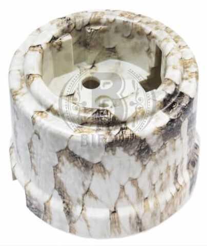 Розетка с заземляющим контактом, пластик, Королевская Кобра, Bironi B1-101-12