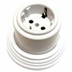 Розетка с заземляющим контактом Combi-2 Plastic, белый BIRONI, B1-101-21/CPL2