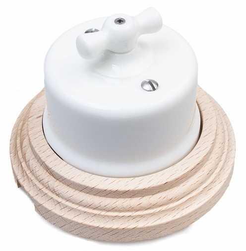 Выключатель 1-кл (проходной) Combi-1 BIRONI, 10А, 250В, --D65*48мм в комплекте с 1-местной рамкой BIRONI 96*96*21мм B1-201-01/С1 Белый