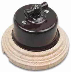 Combi-1/Выключатель проходной на 1 положение в комплекте с 1-местной рамкой Натурель B1-201-02/С1