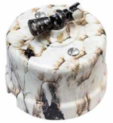Выключатель 1-клавишный, пластик, королевская кобра Bironi B1-201-12