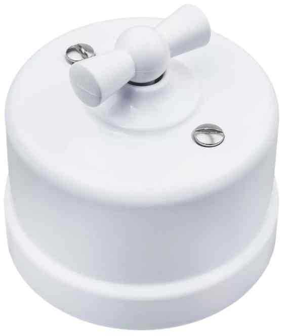 B1-201-21 Bironi Выключатель/Переключатель 1 клавишный пластик, белый