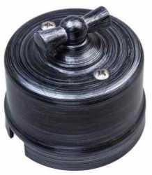 Выключатель 2-клавишный, пластик, серебряный век Bironi B1-202-11 , Серебряный Век