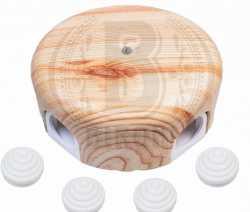 B1-521-13-K Коробка распределительная D78 с заглушками, пластик, Карельская сосна