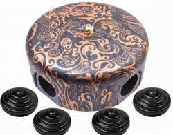 B1-521-15-K Коробка распределительная-D78 с заглушками, пластик, Античная медь