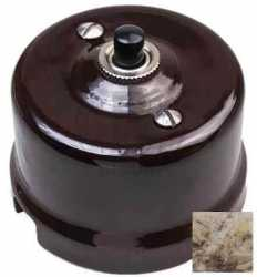 Выключатель импульсный BIRONI с кнопкой KN-09 Мрамор