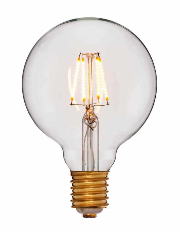 Лампа 95х140 Не диммируемая; Без мерцания; Золотая; E27, 2200K, 400Lm, 4W, 240V 056-779a
