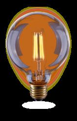 Лампа светодиодная диммируемая Voltega шар прозрачная E27 4W 2800K VG10-G95Gwarm4W 7013