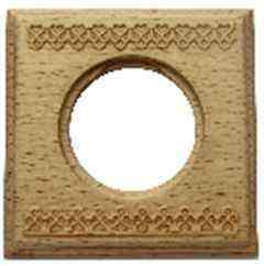 BF4-610-103 Bironi Рамка одноместная квадрат, Бук натурель