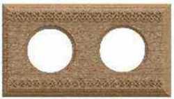 BF4-620-103 Bironi Рамка двухместная квадрат, Бук натурель
