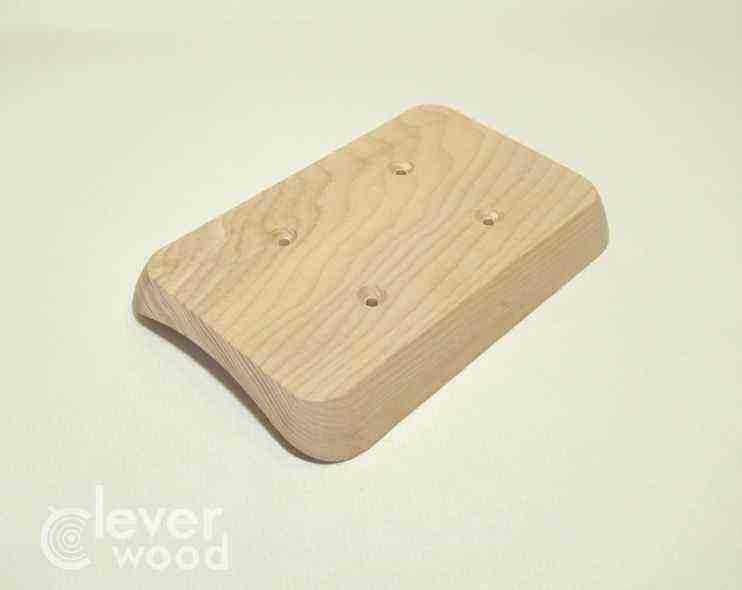 Накладка для двух розеток/выключателей Cleverwood ННМ-220.02.148х88.20.Я