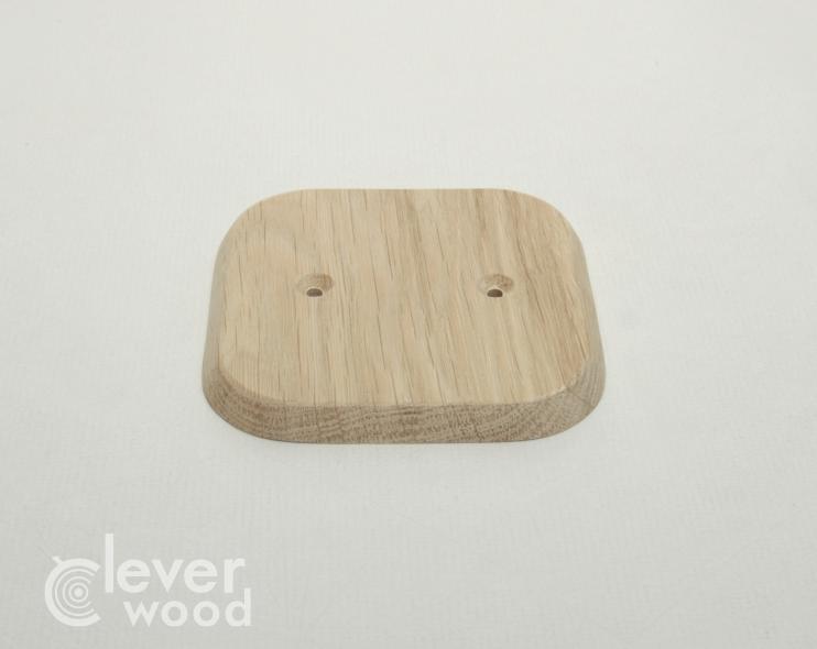 Накладка для одной розетки/выключателя Cleverwood ПНМ-0.08.88*88.0 (плоские)10.Я