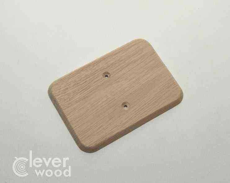 Накладка для сдвоенной розетки Cleverwood ПНМ-0.09.128*88.0 (плоские)15.Я