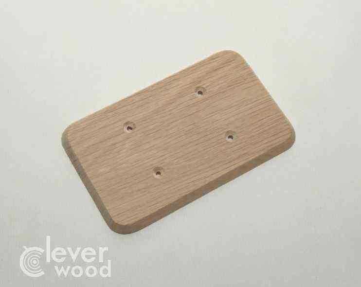 Накладка для двух розеток/выключателей Cleverwood ПНМ-0.09.148*88.0 (плоские)20.Я