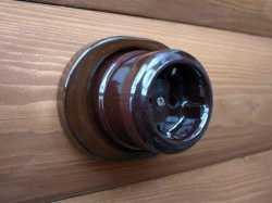 dev008905 Ретро накладка керамическая Derevfarfor серия Ретро, 1 местная, темно-коричневый