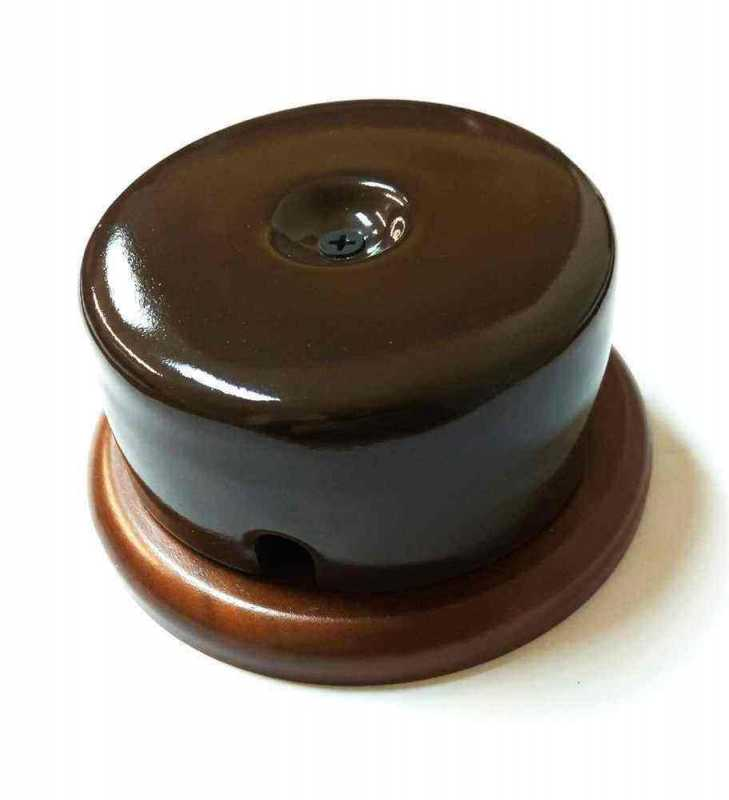 Interior Electric Коробка распределительная керамическая на подложке Коричневая