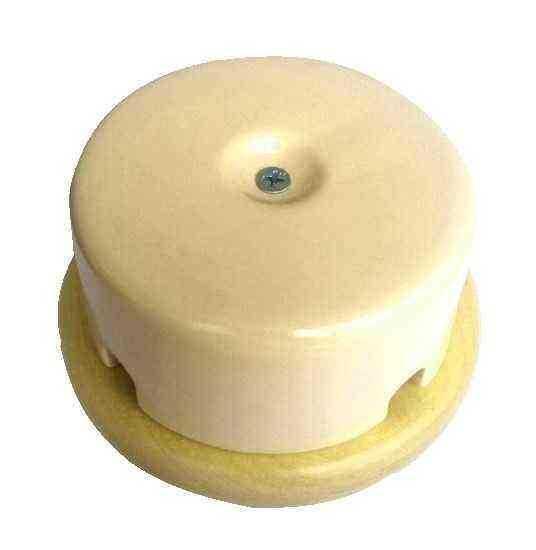 Interior Electric Коробка распределительная керамическая на подложке Слоновая кость