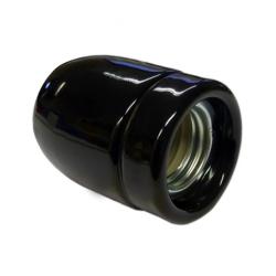 Ретро-патрон керамический черный