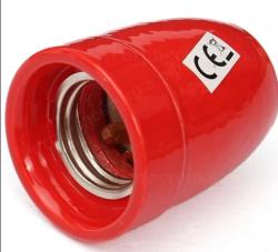 Патрон в стиле ретро для ламп керамический красный