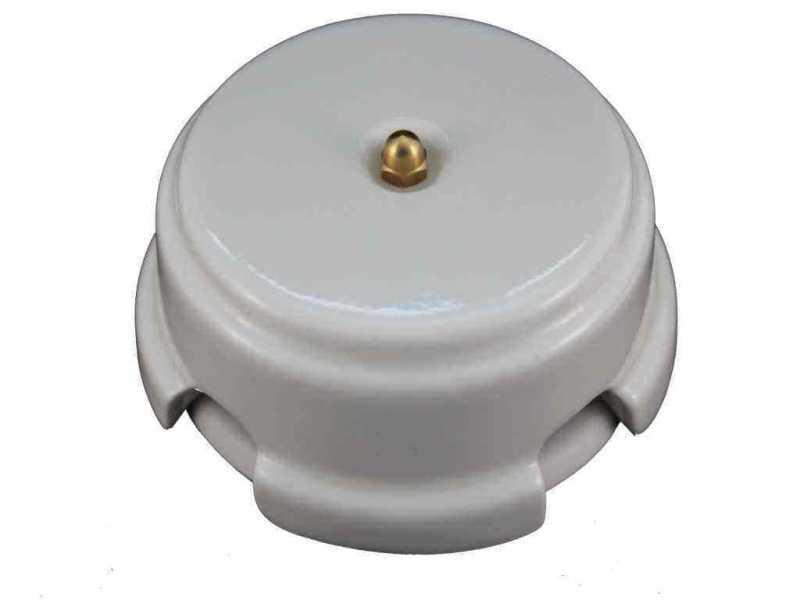 Leanza Коробка распаячная монтажная, D93 цвет bianco (белый), золотистый колпачок КРБЗ