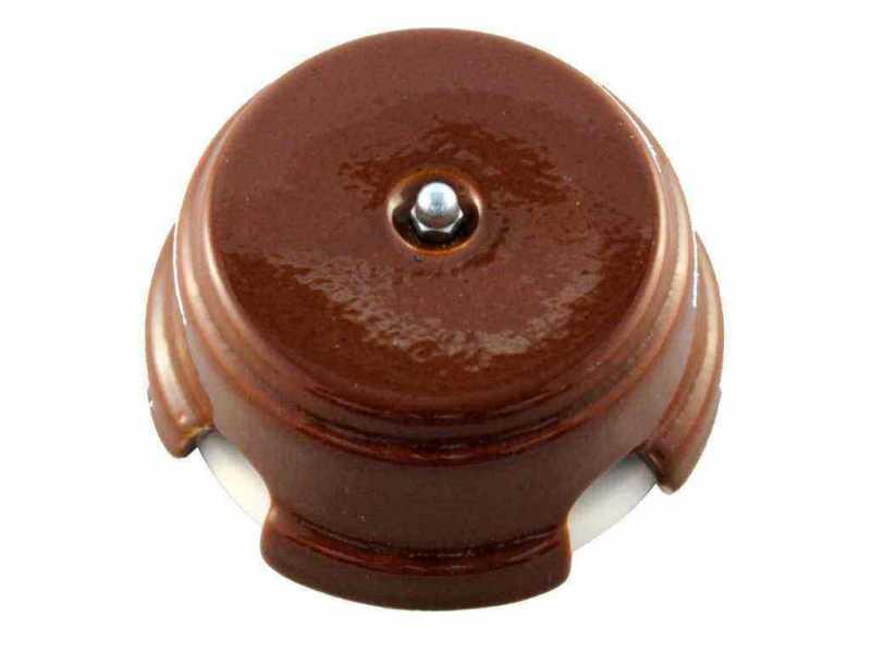 Leanza Коробка распаячная монтажная, D93 цвет bruno (коричневый), серебристый колпачок КРКС