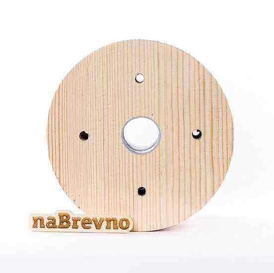0.L4-20-S Накладка на скошенный потолок 0.L4, 20 градусов, сосна, диаметр 155