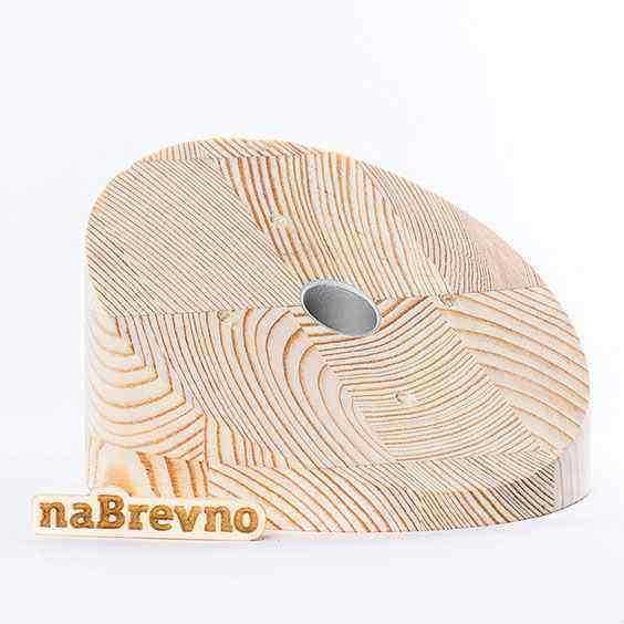 0.L4-30-S Накладка на скошенный потолок 0.L4, 30 градусов, сосна, диаметр 155
