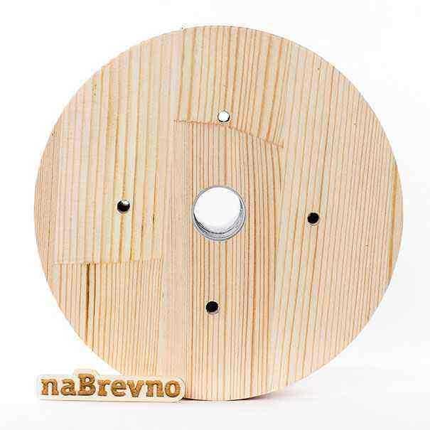 0.L5-20-S Накладка на скошенный потолок 0.L5, 20 градусов, сосна, диаметр 170