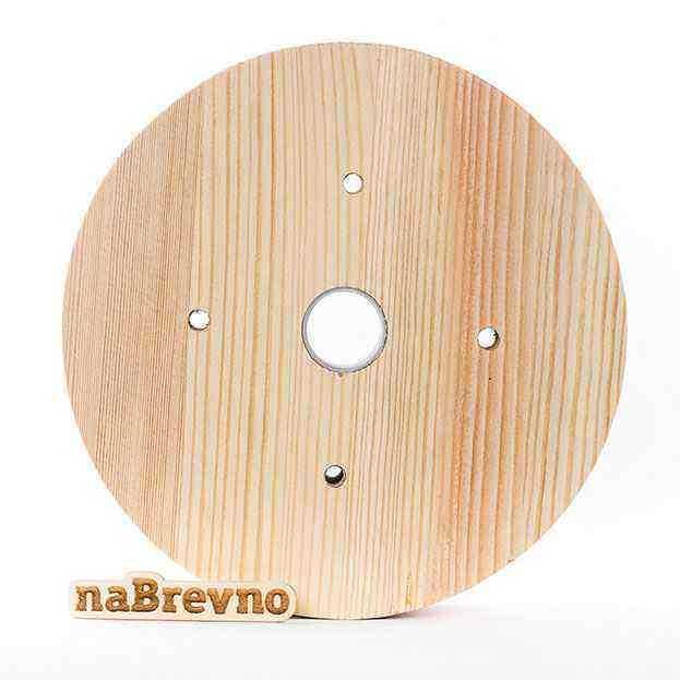 0.L5-45-SН акладка на скошенный потолок 0.L5, 45 градусов, сосна, диаметр 170