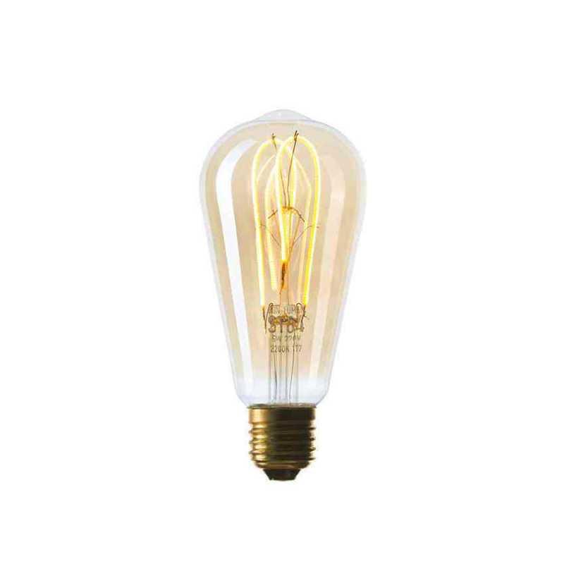 Лампа ST64 LED 5W SF-W, Golden, IC, E27 260 Lm 056-922