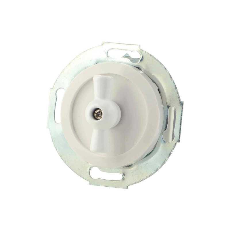 880704-3 Выкл 1кл, проходной, поворотный 10 A, 250 B  белый/белый металл
