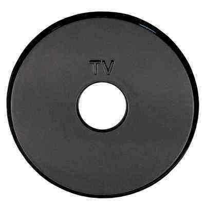 885108-1 Накладка розетки TV (черный) Vintage