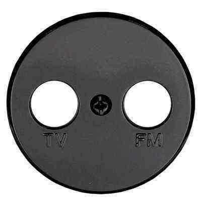 885208-1 Накладка розетки  TV+FM 2  (черный) Vintage