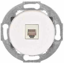 Ретророзетка компьютерная  RJ-45 кат. 5е с накладкой (белый) Vintage, 886104-1, , Совместимость: Vintage, Производитель: Vintage, Тип монтажа: Встроенный, Кратность заказа: 1, Гарантия: 12 месяцев, Тип изделия: Розетка интернет, Цвет: Белый, Материал корпуса: Пластик, Единицы измерения: штуки, Артикул производителя: 886104-1, Страна: Россия