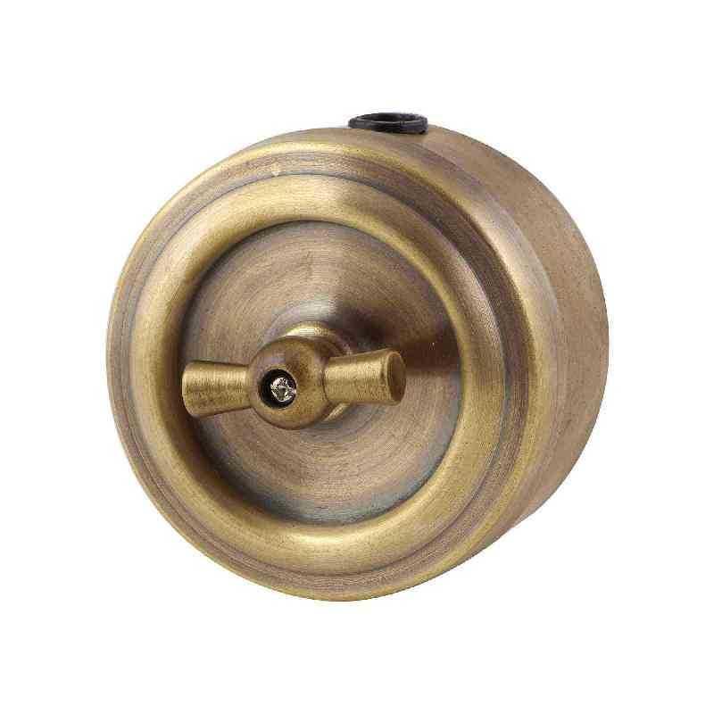 Ретро выключатель бронзовый 1кл, проходной, М1-11-21