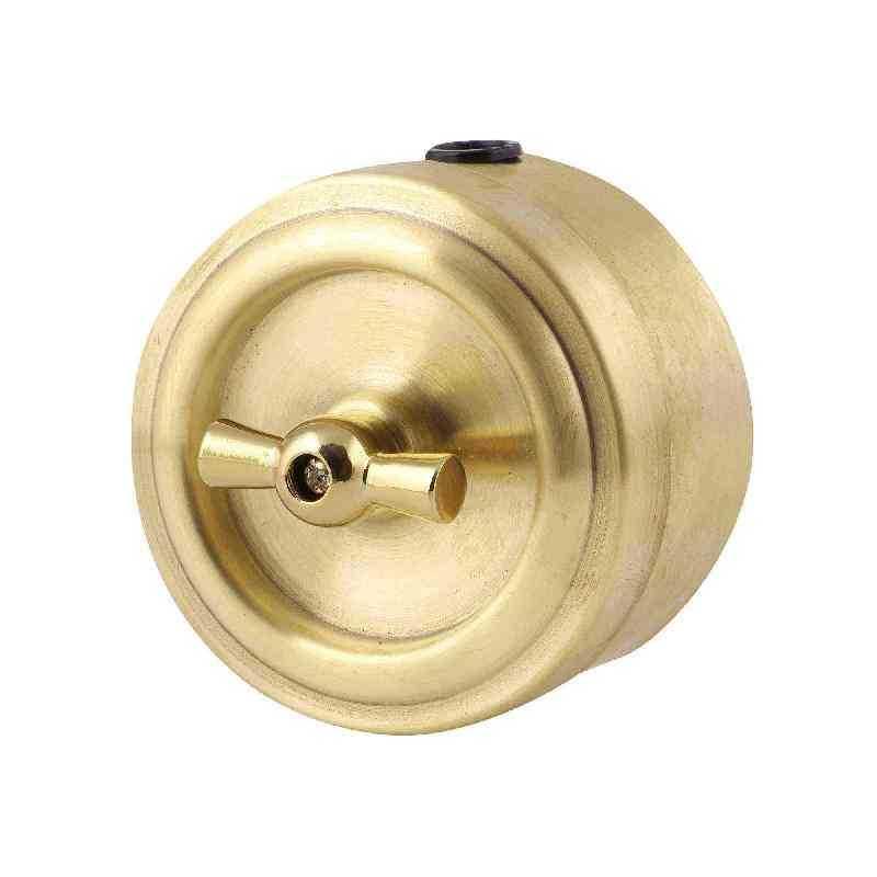 М1-11-22 Выкл 1кл, проходной, золото