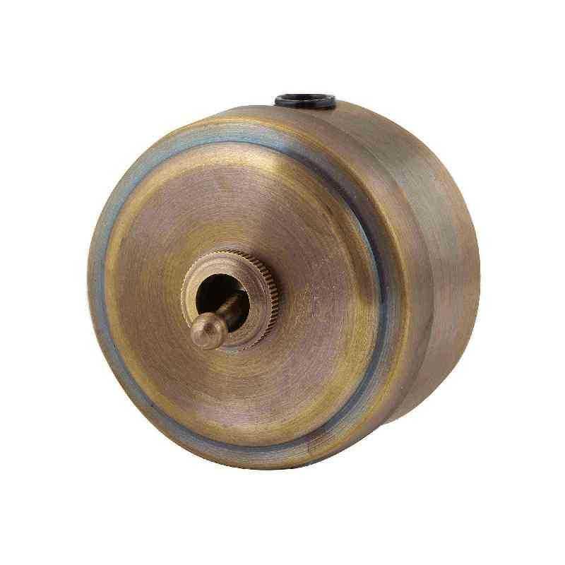 Выключатель в стиле ретро М2-11-30 1кл, проходной, бронза