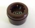 Розетка Interior elc. С/з, о/у, 16а, abs, brown (коричневая)