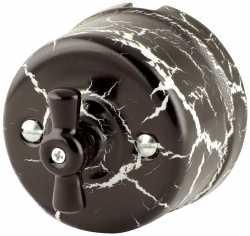 Выключатель 1-кл (проходной) 080-545 Аструс 1 положение, керамический. 240V, 10A.
