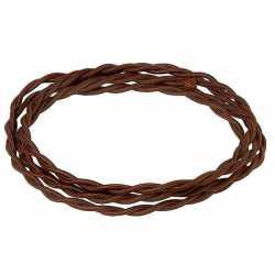 Ретро кабель термостойкий электрический шоколад CHO/L 2*2.5 Salvador