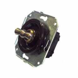 Ретро выключатель коричневый CL11BR Salvador одноклавишный проходной