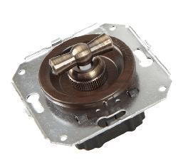 Ретро выключатель венге CL11WG Salvador одноклавишный проходной