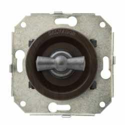 """Ретро выключатель перекрестный, венге/""""состаренное серебро"""", CL31WG.SL Salvador"""